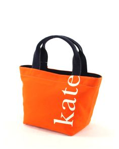 might be a bit pretentious if I carried a bag with my name on it, but I looooove the orange