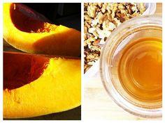 Dovleacul este un aliment extrem de valoros pentru sănătate, și un ingredient ideal pentru deserturile aromate de toamnă, în special cele preparate cu miere, scorțișoară și nuci. Energy Bars, I Want To Eat, Beekeeping, Cantaloupe, Fruit, Food, Fine Dining, The Fruit, Meals