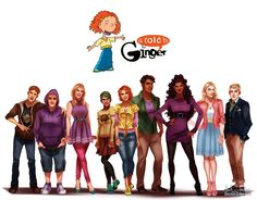 All Grown Up: As Told by Ginger Done especially. - Isaiah Stephens Art and Illustration Pepper Ann, Rocket Power, Hey Arnold, Carmen Sandiego, Kids Cartoon Characters, Cartoon Kids, Cartoon People, Kim Possible, Costumes