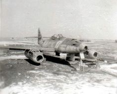 """ME 262 A-1a - W.Nr.110956 Possibly flown by Heinz Bär. Captured at Lechfeld on 29th April 1945, coded """"White 17"""" and """"White S"""" for Schulmaschine (a trainer or schooling plane). credit: """"Me262, The Production Log"""" by Dan O'Connell [Classic, 2005]"""