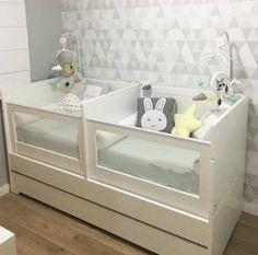 baby cribs Baby Nursery Twins Children 15 Super Id - Twin Baby Beds, Baby Cribs For Twins, Twin Baby Rooms, Twin Cribs, Baby Bedroom, Twin Babies, Twin Room, Bedroom For Twins, Twin Nurseries