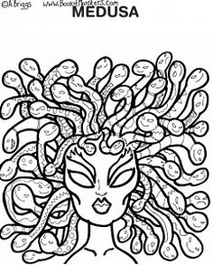 Ancient Greek Book of Monsters coloring pages. Excellent idea for a casual day on ancient greece