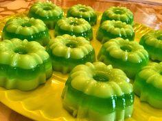 Mini-gelatinas Limón y pistacho
