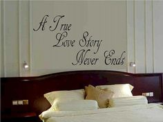 A true love story never ends wall decal WD por WallDecalsAndQuotes