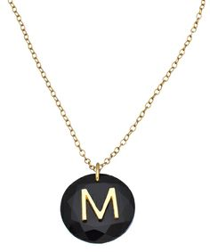 { Onyx Personalized Initial Necklace }
