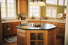 octagonal kitchen island