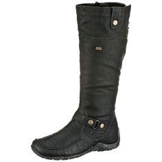 #RIEKER #Damen #Stiefel #schwarz - Stylisch und bequem kommen Sie mit diesen…