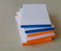 Le typographe, Mini blocnote blue