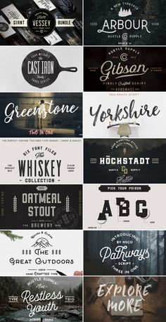 Giant Font Bundle from Hustle Supply Co. Japanese Typography, Cool Typography, Typographic Design, Typography Letters, Typography Poster, Lettering Design, Hand Lettering, Cute Fonts, Graphic Projects