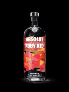Brand new packaging for Absolut's Flavour range designed by The Brand Union. #Packaging #Vodka #Print #Design #Branding