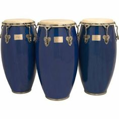 """11"""" Signature Classic Blue Conga Drum w/ Stand by Tycoon. $409.00. This listing is for one 11"""" Conga Drum w/ Stand - Available in 4 sizes Today, Tycoon Percussion is well-established throughout the world as a leading manufacturer of percussion products, and is the only hand percussion company that wholly owns its own manufacturing facility. Commitment to quality control and innovation are first and foremost in Tycoon Percussion's philosophy.  Tycoon Percussion work..."""