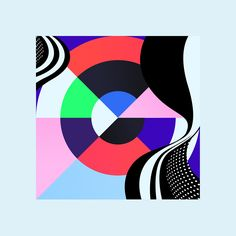 """Kleurstaal"" is a personal project by Belgian designer Bram Vanhaeren (previously featured here) exploring vibrant color palettes and geometric shapes. ""Kleurstaal is a Dutch translation… Geometric Graphic, Graphic Patterns, Graphic Prints, Geometric Shapes, Geometric Painting, Print Patterns, Graphic Art, Abstract Art, Design Café"