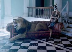 'The Lion King' Karen Elson & Edie Campbell by Tim Walker For Love No.10