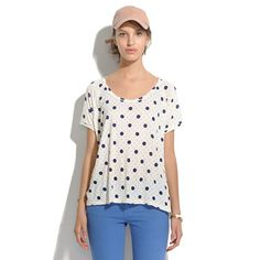 Swing Tee in Spots & Dots - tees & more - Women's NEW ARRIVALS - Madewell