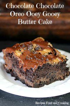Chocolate Chocolate Oreo Ooey Gooey Butter Cake - Recipes Food and Cooking  #SweetenYourSeason #ad #IC