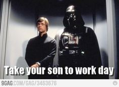 Take your son to work day