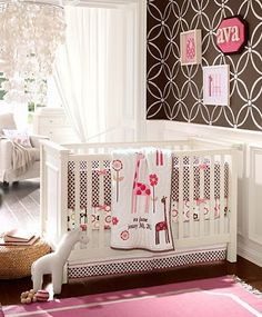 Great Pottery Barn Kids Room- paint Benjamin Moore Middlebury Brown HC-68