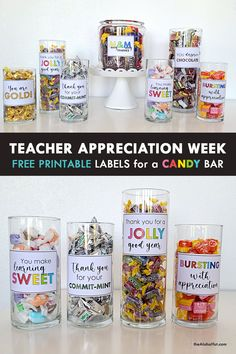 Teacher Appreciation Week, Employee Appreciation Gifts, Easy Teacher Gifts, Teacher Treats, Candy Quotes, Candy Sayings, Staff Gifts, Student Gifts, Teacher Morale