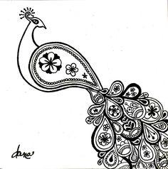 Paisley Peacock Illustration By Alexandra Frances