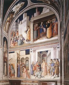 Fra Angelico  Scenes from the Lives of Sts Lawrence and Stephen -  1447-49 Technique :Fresco Form :painting Location :Cappella Niccolina, Palazzi Pontifici, Vatican