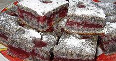 Bögrés krémes meggyes-mákos kocka recept képpel. Hozzávalók és az elkészítés részletes leírása. A Bögrés krémes meggyes-mákos kocka elkészítési ideje: 45 perc Sweets, Zeller, Food, Cakes, Mac, Basket, Hungary, Gummi Candy, Cake Makers