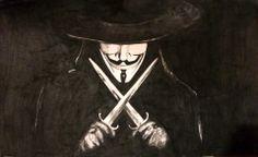 V per Vendetta. misure 30x60 circa