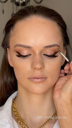 Contour Makeup, Eyebrow Makeup, Skin Makeup, Eyeshadow Makeup, Makeup Cosmetics, Makeup For Wedding, Bridal Eye Makeup, Bride Makeup, Glam Makeup Look