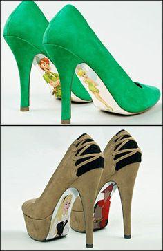disney high heels | Uniknya High Heels dengan Sol Sepatu Bergambar Karakter Disney
