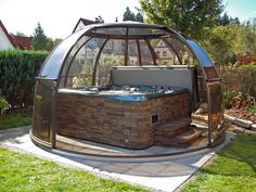 Spacious hot tub cover SUNHOUSE | Hot tub covers, free standing ...
