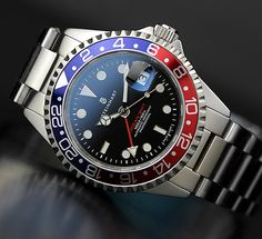 steinhart gmt - Google Search Cool Watches, Rolex Watches, Steinhart Ocean One, Steinhart Watch, Tourbillon Watch, Watch Deals, Skeleton Watches, Affordable Watches, Shopping