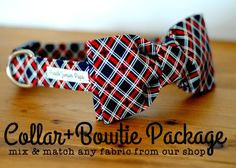 Red Blue and Cream Modern Plaid Dog Collar The by PuddleJumperPups Dog Lover Gifts, Dog Gifts, Dog Lovers, Plaid Dog Collars, Pet Collars, Luxury Dog House, Dog Safety, Shih Tzu Puppy, Dog Bows