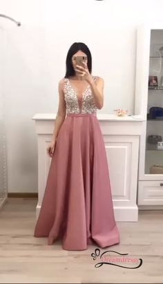 Elegant Silver Sequins and Pink Long Prom Dress with Pockets Source by dreamdressyoffical long dress Prom Dresses Long Pink, Prom Dresses With Pockets, Elegant Prom Dresses, Grad Dresses, Bridesmaid Dresses, Club Dresses, Party Dresses, Godmother Dress, Formal Dresses Online