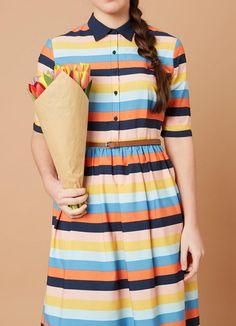 Martha Stripe Shirt Dress