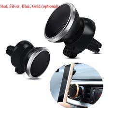 Universal Car Uscita Aria Magnete Mobile Phone Holder 360 Gradi di Rotazione Aria Condizionata Bocca di Navigazione Supporto Del Telefono Magnetico