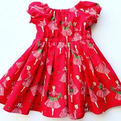 A personal favorite from my Etsy shop https://www.etsy.com/listing/476015420/christmas-dress-red-dress-merry