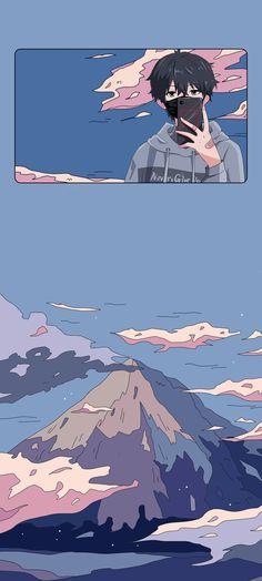 Anime Backgrounds Wallpapers, Anime Scenery Wallpaper, Naruto Wallpaper, Cute Cartoon Wallpapers, Animes Wallpapers, Cute Pastel Wallpaper, Bear Wallpaper, Kawaii Wallpaper, Aesthetic Art