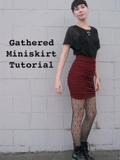 Gathered Miniskirt Tutorial
