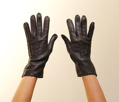 Vintage Brown Genuine Deerskin Gloves
