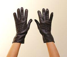 Vintage Brown Genuine Deerskin Gloves