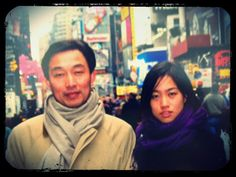 With my father on the streets of NY, 2000-2001