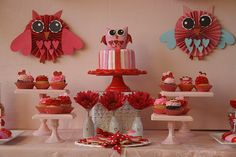 Owl Valentine's Day party theme.