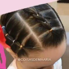 short girl hairstyles for kids toddler hair Your toddler will love these super fun and creative hairstyles By: coisasdemaaria Easy Toddler Hairstyles, Easy Little Girl Hairstyles, Cute Little Girl Hairstyles, Baby Girl Hairstyles, Easy Hairstyles For Long Hair, Creative Hairstyles, Fun Hairstyles, Female Hairstyles, Hairstyle For Baby Girl