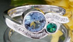 His and Hers Birthstone Engagement Rings