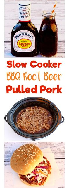 Slow Cooker BBQ Root Beer Pulled Pork - Slow Cooker - Ideas of Slow Cooker - Easy Crock Pot BBQ Root Beer Pulled Pork Sandwich Recipe! The perfect Slow Cooker meal for tailgating and game day! AD www. Slow Cooked Meals, Crock Pot Cooking, Crock Pots, Cooking Steak, Pulled Pork Recipes, Root Beer Pulled Pork, Bbq Pulled Pork Crockpot, Slow Cooker Pulled Pork Recipe, Easy Pulled Pork