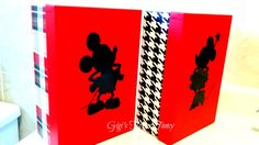 Mickey & Minnie Memory/Souvenir Keeper Boxes - Pictures, Park Maps, Pressed Pennies, Buttons, Magic Bands and More! by GigisFlowerFancy on Etsy