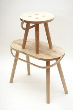 stools with carrying/hanging handles.  Love!