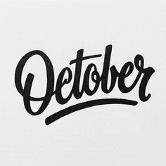 october hand lettering - Google Search