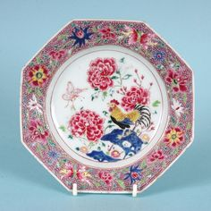 Pair of Chinese Export Famille Rose plates, c. 1760 : The British Antique Dealers' Association