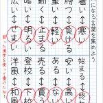 小学生の自主学習用【はんたいことば】対義語一覧