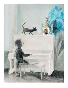 Piano muet | Art Print | Isabelle Arsenault – Sur ton mur